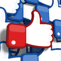 Red facebook like button
